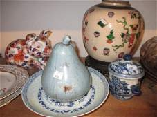 Chinese crackleware ginger jar on a hardwood stand