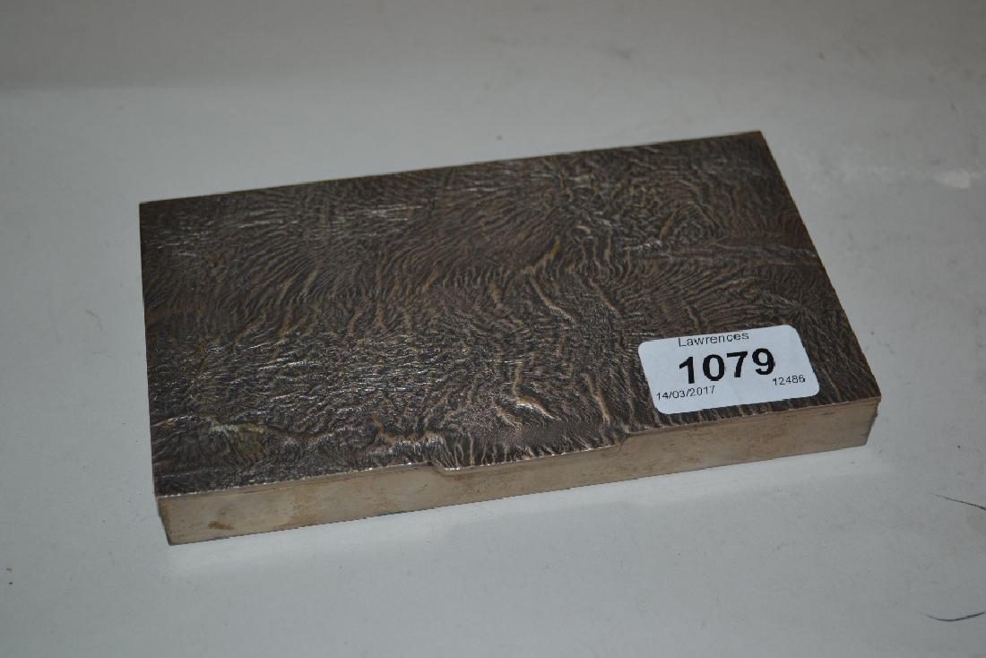 Modern Italian silver rectangular shallow box with