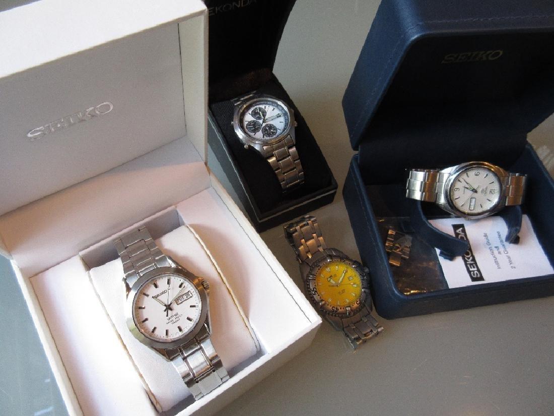 Two boxed Seiko gentleman's wristwatches, another Seiko