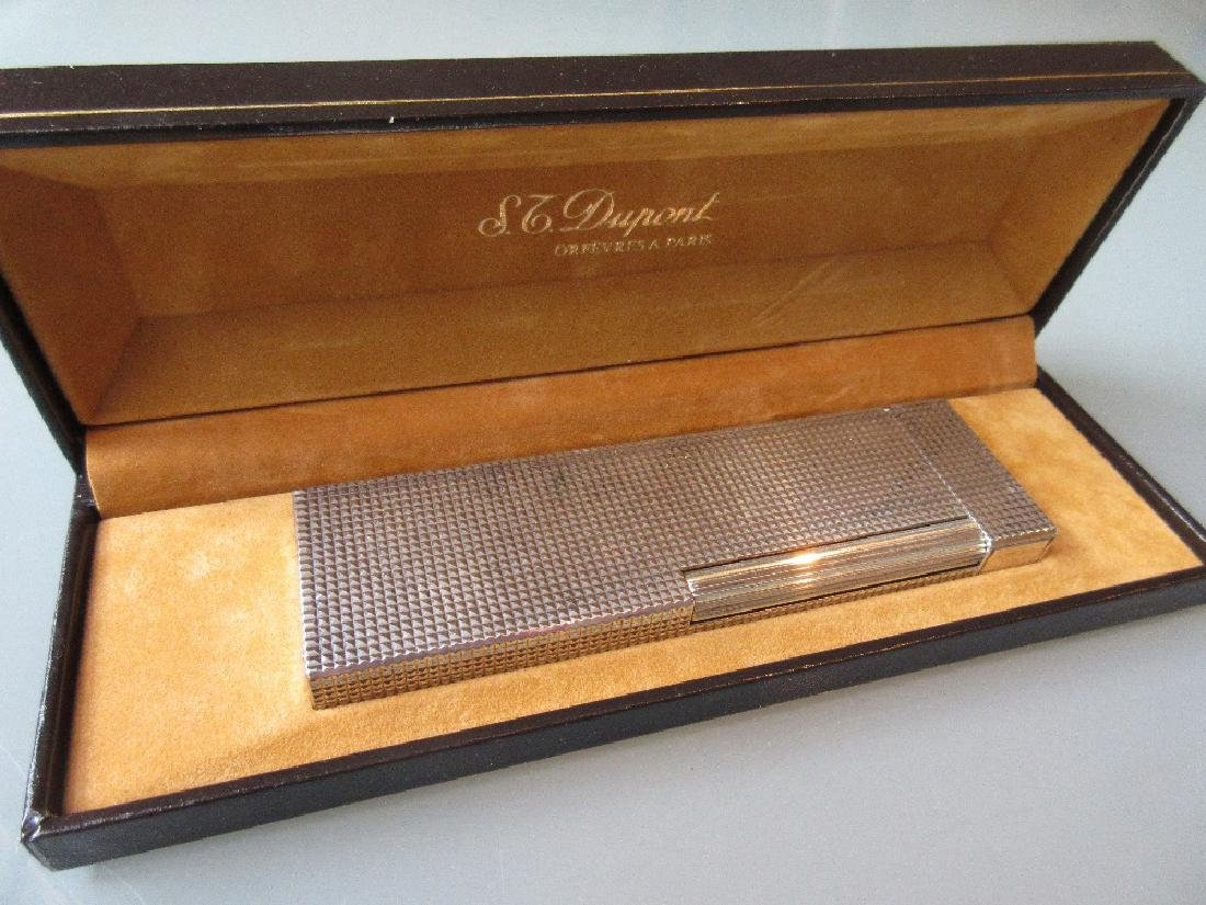 Dupont silver plated lighter in original box