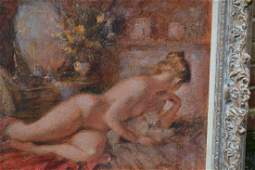 Frank Haseler, 20th Century oil on canvas laid on