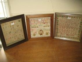 19th Century alphabet sampler by Petra Miguelanez with