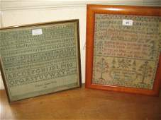 19th Century pictorial and alphabet sampler with verse