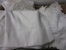 Box of various table linen