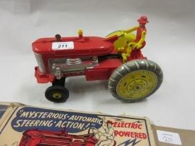 Louis Marx, plastic model of a tractor (carton a/f)