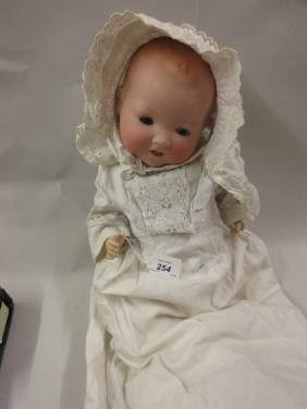 Armand Marseille bisque headed baby doll, the head with