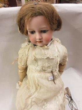 Armand Marseille bisque headed character doll, the head