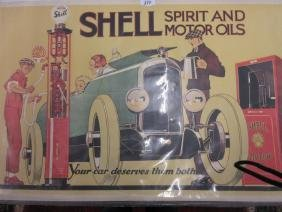 1969 Shell advertising poster, ' Your Car Deserves Them