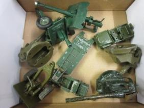 Quantity of various die-cast metal model artillery guns