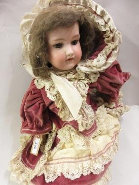 Armand Marseille bisque headed doll with closing eyes
