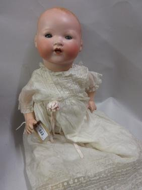 Armand Marseille bisque headed baby doll having closing