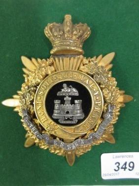 Victorian Essex regiment Officer's helmet plate