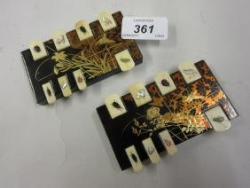 Pair of early 20th Century Japanese lacquered and