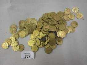 Quantity of George III brass gaming tokens