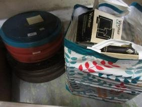 Small quantity of various film reels in plastic and tin