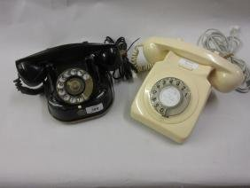 1950's Black bell telephone re-wired together with a