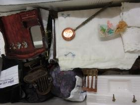 Two boxes containing a quantity of various dolls house
