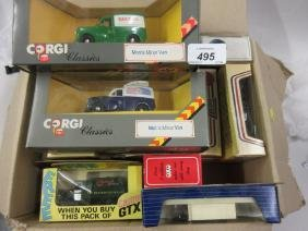 Quantity of various boxed model vehicles