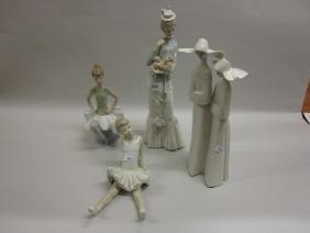 Four various boxed Lladro porcelain figures