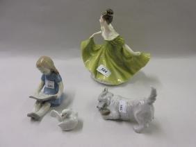 Royal Doulton figure ' Lynne ' HN2329, two small Royal