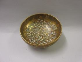 Japanese Satsuma pottery pedestal bowl decorated with a