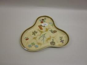 Late 19th Century Worcester Japanesque trefoil dish