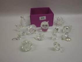 Quantity Of Swarovski And Other Crystal Animal Figures