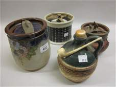 Royal Doulton stoneware tobacco jar with stylised