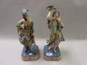 Pair of 19th Century French bisque figures, a Moorish