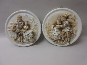 Pair of late 19th Century Continental porcelain