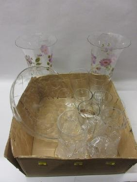 Small quantity of various drinking glasses including