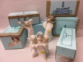 Group of six various boxed Lladro figures, together