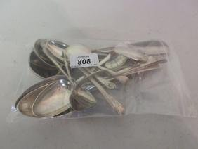Quantity of various silver flatware including: