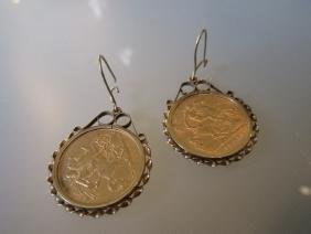 Two 1907 half Sovereigns mounted in 9ct gold pendant