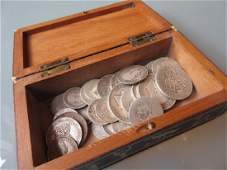 Box containing a small quantity of various British