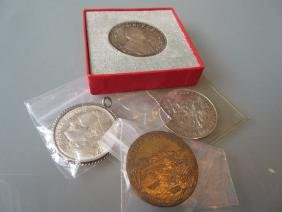 Monaco 1974 silver fifty francs, together with Mexico