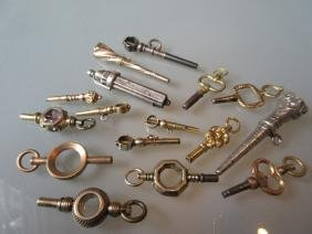 Quantity of various 19th Century pocket watch keys