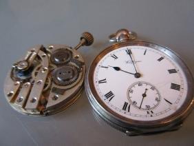 Birmingham silver cased open face pocket watch by
