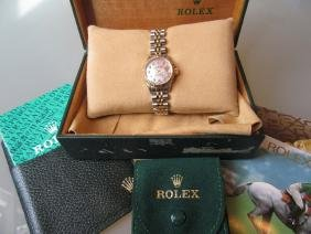 Ladies Rolex bi-colour stainless steel wristwatch, the