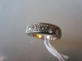 18ct White gold seven stone diamond channel set ring