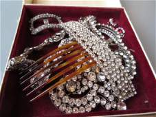 Small collection of paste set jewellery including