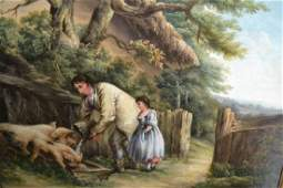 Style of George Morland, 19th Century oil on canvas,
