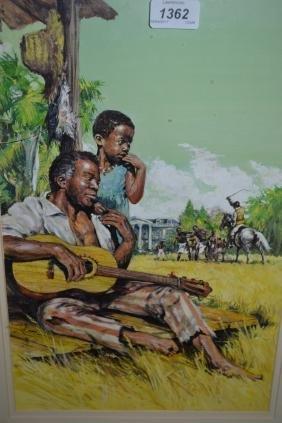 Gordon King gouache, illustration study of life on a