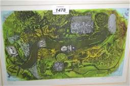 Glynn Thomas, signed etching, ' Welsh Dream ', together