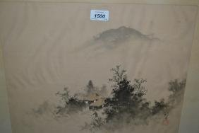 Group of four Chinese paintings on silk, the Four