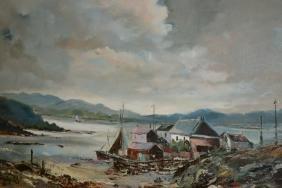 Ira Inglefield, oil on canvas of Husinish Harris,