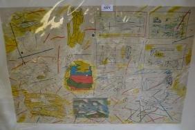 Ainslie Yule, unframed trial proof drawings for