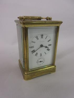 Early 20th Century brass cased carriage clock with
