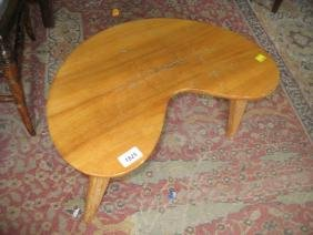 Small mid 20th Century teak kidney shaped occasional