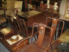20th Century Chinese hardwood dining room suite